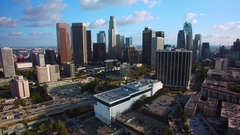 Los Angeles Downtown Aerial Shot of Skyscrapers Arkistovideo