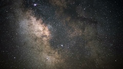 Milky Way Galaxy and Aquarids Meteor Shower Time Lapse 4K Stock Footage