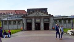 Entrance to Wittenberg platz subway underground Ubahn station, Berlin Stock Footage