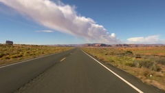 Monument Valley Driving Plate 15 Highway in USA Southwest Desert Stock Footage