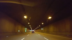 Drive through a long underground tunnel, Germany Stock Footage