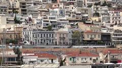 4K Timelapse traffic car on coastline road commuter transportation in Athens  Stock Footage