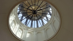 Glass dome ceiling, Berlin, Germany Stock Footage