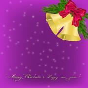 Christmas Greeting card with jingle bells Piirros