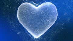 Cool Icy Heart Made of Ice Crystals Seamless Looping Motion Background Stock Footage