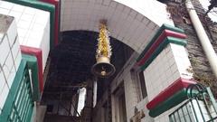 Bhagsu Naag Temple bell moves, Dharamsala, India Stock Footage
