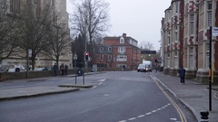 Eton and Eton College: typical streets of an English town Stock Footage