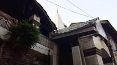 Outside Bhagsu Naag Temple, Dharamsala, India Stock Footage
