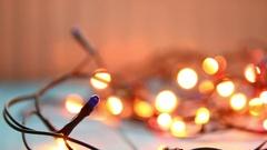 New year light flashing Stock Footage