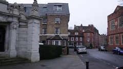Eton: typical streets of an English town - pan Stock Footage