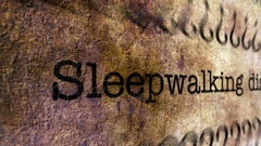Sleepwalking disorder grunge concept Stock Footage