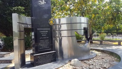 Chandigarh City of Peace monument, Rotary Club, India Stock Footage