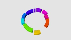 Animated 3D Pie Chart Stock Footage