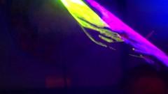 Laser lights rock band show - big color Stock Footage