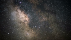 6K Milky Way Galaxy and Aquarids Meteor Shower Time Lapse Stock Footage