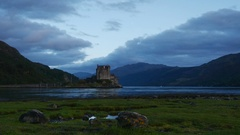 Eilean Donan Castle in Scotland Stock Footage