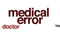 Medical error animated word cloud. Arkistovideo
