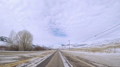 POV point of view - Driving highway on Western Slopes in Colorado. Stock Footage