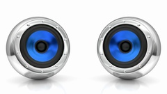 Blue drivers futuristic wireless sound system 3D looping animation Stock Footage