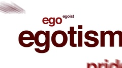 Egotism animated word cloud. Stock Footage