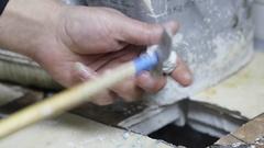 Ceramet implant creature process at laboratory. Stock Footage