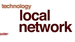 Local network animated word cloud. Stock Footage