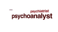 Psychoanalyst animated word cloud. Stock Footage