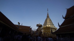 Wat Phra That Doi Suthep Temple, Chiang Mai ,Thailand, Timelapse Stock Footage