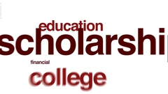 Scholarship animated word cloud Stock Footage