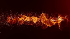 Energy Wave Particles Flow  Stock Footage