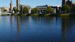 Cityscape of Inverness, Scotland Stock Footage