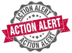 Action alert stamp. sign. seal Stock Illustration