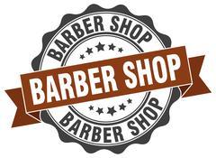 Barber shop stamp. sign. seal Stock Illustration