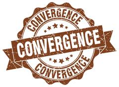 Convergence stamp. sign. seal Stock Illustration