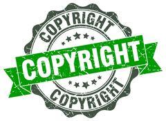 Copyright stamp. sign. seal Stock Illustration