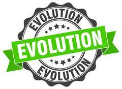 Evolution stamp. sign. seal Stock Illustration