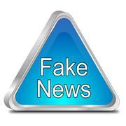 Fake News warning sign - 3D illustration Stock Illustration