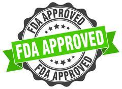Fda approved stamp. sign. seal Stock Illustration