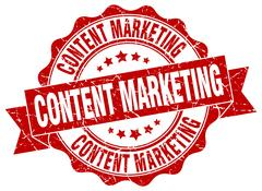 Content marketing stamp. sign. seal Stock Illustration