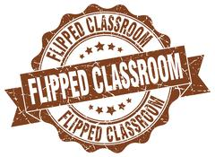 Flipped classroom stamp. sign. seal Stock Illustration