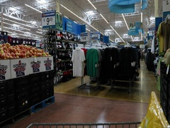 Mexico shopping cart in Walmart point of view DCI 4K Stock Footage