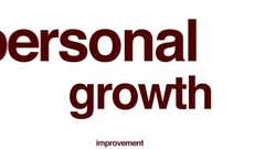 Personal growth animated word cloud. Stock Footage
