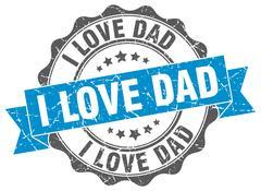 I love dad stamp. sign. seal Stock Illustration
