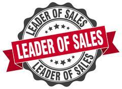 Leader of sales stamp. sign. seal Stock Illustration