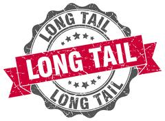 Long tail stamp. sign. seal Stock Illustration