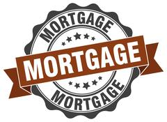 Mortgage stamp. sign. seal Stock Illustration