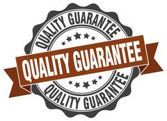 Quality guarantee stamp. sign. seal Stock Illustration