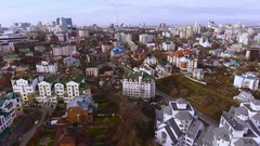 Aerial shot of russian city - Voronezh. The urban landscape. Russia. 4K Arkistovideo