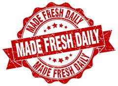 Made fresh daily stamp. sign. seal Stock Illustration
