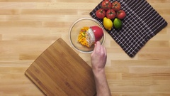 Chef mixing a recipe Stock Footage